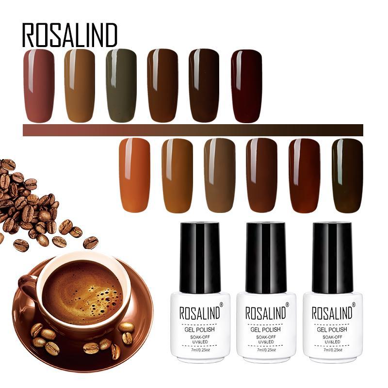 acheter rosalind gel 1s café + couleurs rouges série 7ml gel vernis
