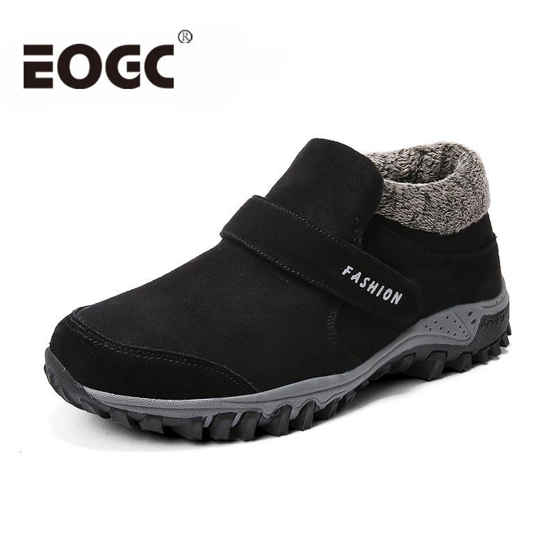 70739dceed8 Compre Tamaño 39 46 Zapatos De Invierno Más Cálidos Estilo Ruso Hombres  Botas Para La Nieve Cómodos Zapatos De Cuero De Gamuza Hombres Botas Moda  Casual ...