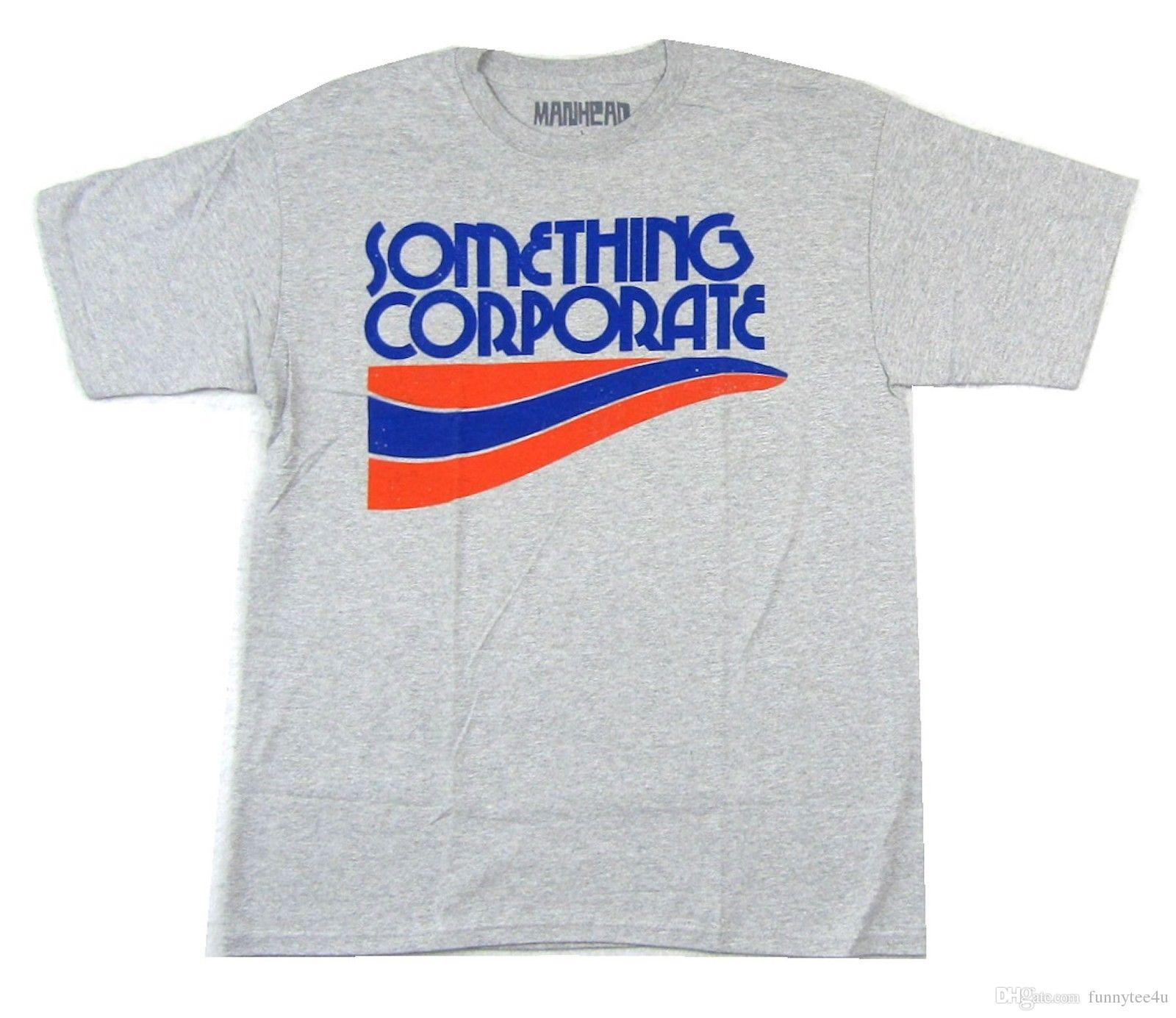 Something Corporate Wave Logo Heather Grey T Shirt New Soft Jacks