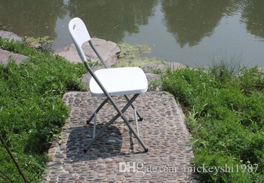 Entrenamiento sillas plegables respaldo muebles de plástico oficina evento restaurante restaurante patio blanco simple asiento portátil banco taburete