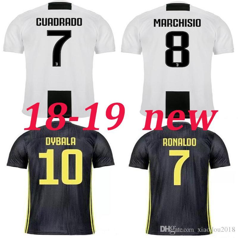 2c9342818 2019 Thai Quality 2018 2019 New Juventus Home Away Soccer Jerseys 18 19 NEW Season  JUV CUADRADO DYBALA RONALDO Mandzukic BUFFON Football Shirts From ...