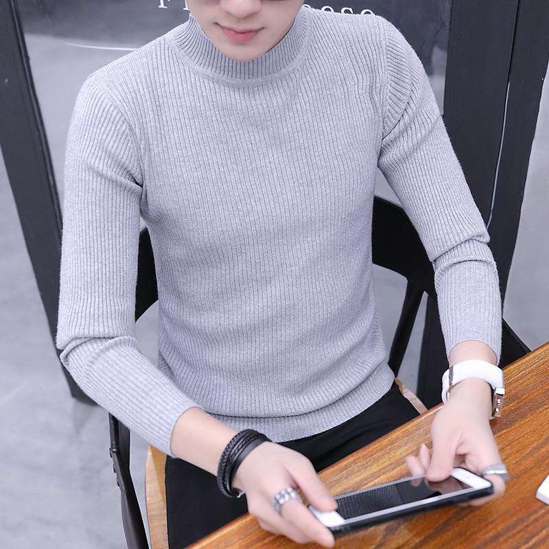 f08b11dbac 2019 2018 Winter Thick Warm 100% Cashmere Sweater Men Turtleneck Brand Mens  Sweaters Slim Fit Pullover Men Knitwear Double Collar From Rykeri