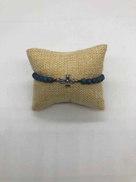 Nuevo Chic Hematite pulsera para mujer niñas pulsera de brazalete con bloqueo de acero inoxidable joyería fina Demon868
