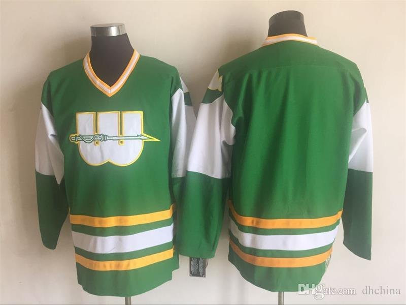 new product c6c9c 7f73f New Vintage Whalers Jersey #9 Gordie Howe Hockey Jerseys Blank Green Color  By CCM Size 48-56 Stitched Mix Order All Jerseys