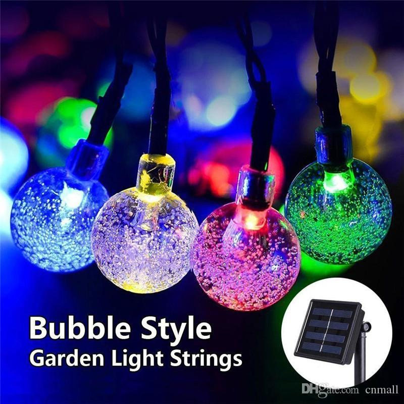 Lights & Lighting New Solar Lamps Crystal Ball Waterproof Colorful Fairy Outdoor Solar Light Garden Christmas Party Decoration String Lights