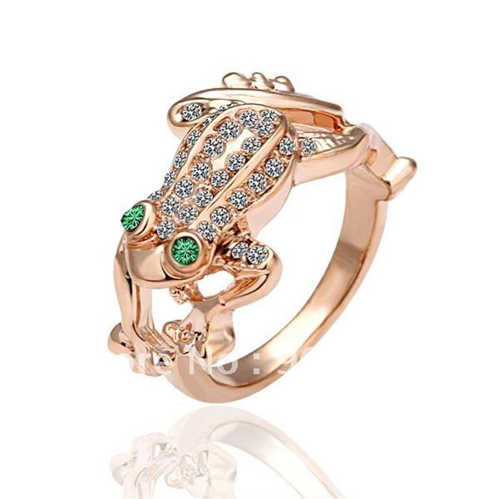 2016 Fashion rose gold plated animal ring with Austria crystal cute cool party jewelry