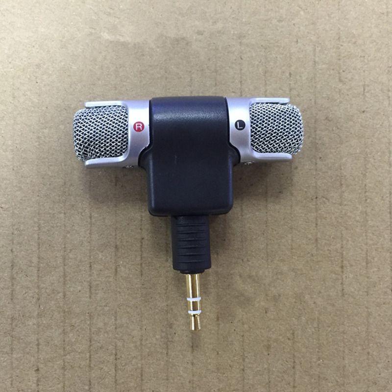 Professionelle Mikrofone Mini Recorder Stereo Voice Digital Mic Mikrofon Tragbar Für Smartphones PC Laptops Gute Qualität