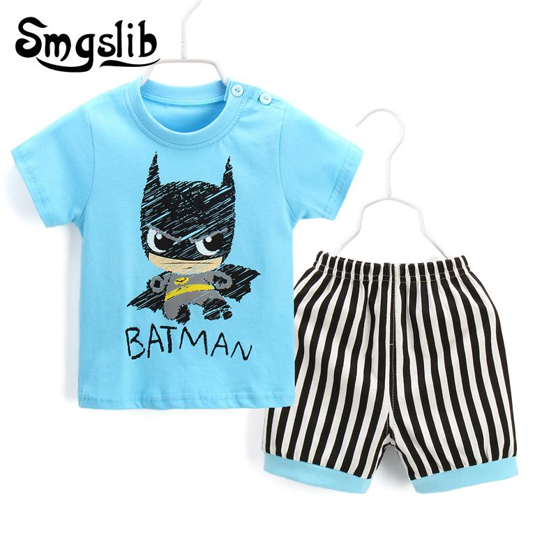 Baby Boy Clothes 2018 Coon Casual T-shirt+Pants two piece set newborn baby girl summer clothes childrens tracksuit outfit