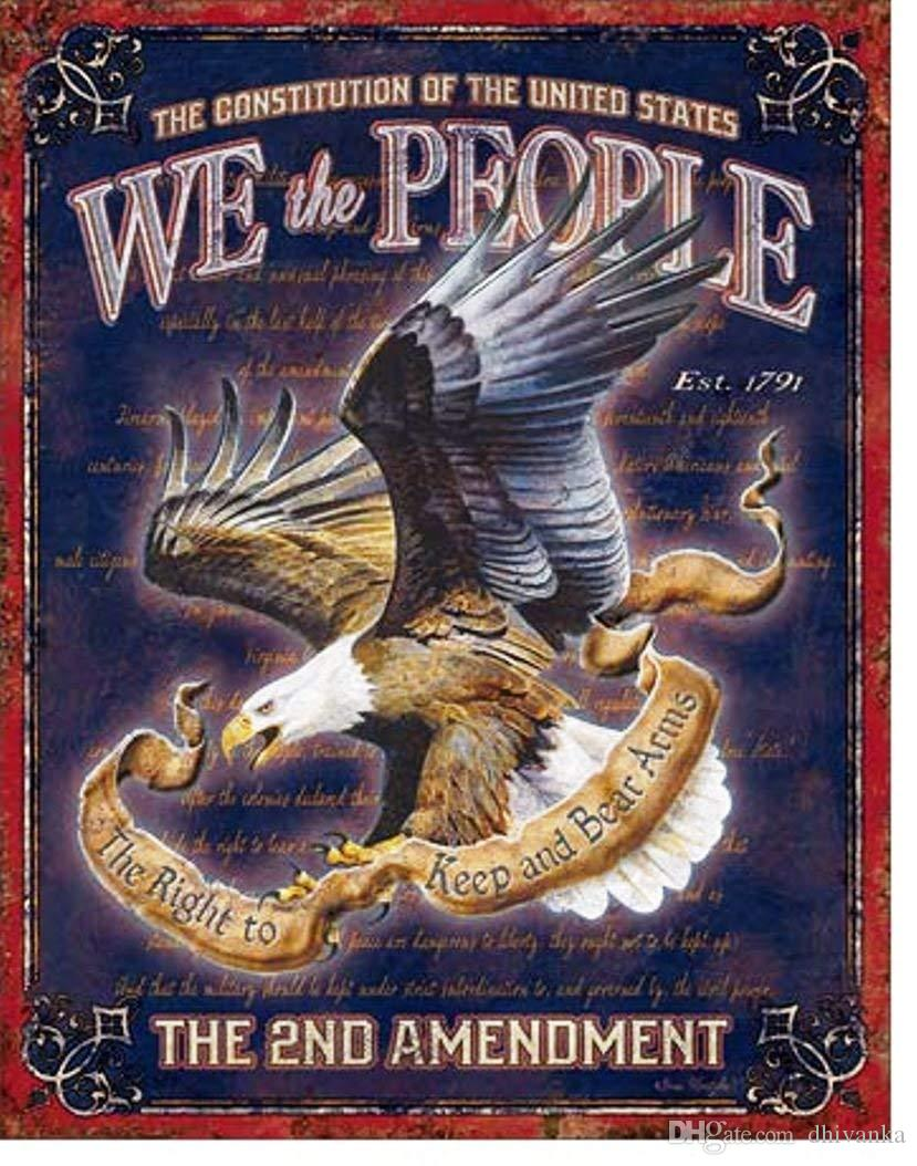 b37608db2 We The People The 2nd Amendment Keep And Bear Arms Tin Collectible Sign  Gift Custom Shirt Black Shirts From Dhivanka, $11.17| DHgate.Com