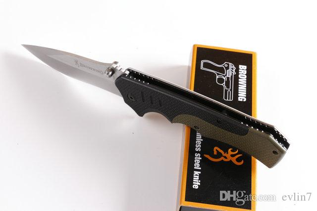 Top-Qualität Neue angekommene Brow F17 Tactical Klappmesser G10 + Stahlgriff Survival Pocket Klappmesser Messer mit Original-Papierbox