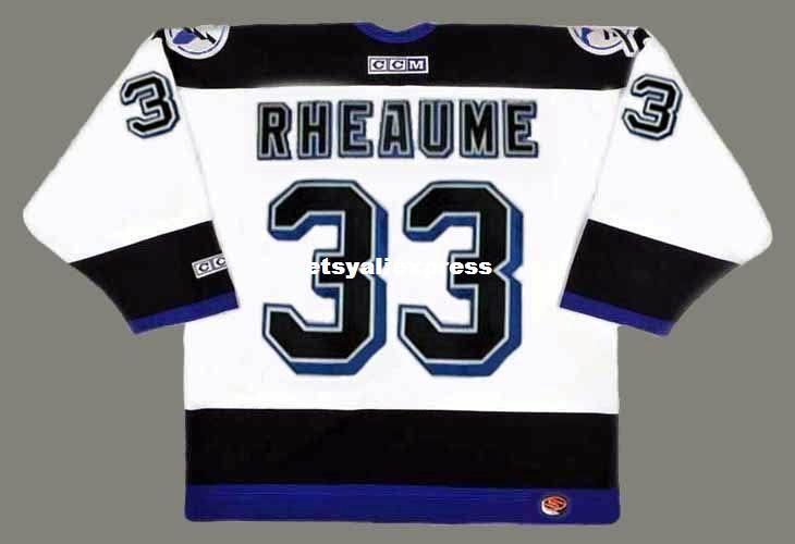 2019 Custom Mens MANON RHEAUME Tampa Bay Lightning 1992 CCM Jerseys Home  Cheap Retro Hockey Jersey From Etsyaliexpress a42662999