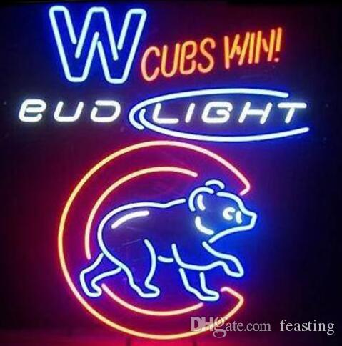 2018 Custom New Bud Light Chicago Bears Beer Real Glass Neon Sign Light  Beer Bar Sign Send Need Photo 19x15 From Feasting, $90.56 | Dhgate.Com