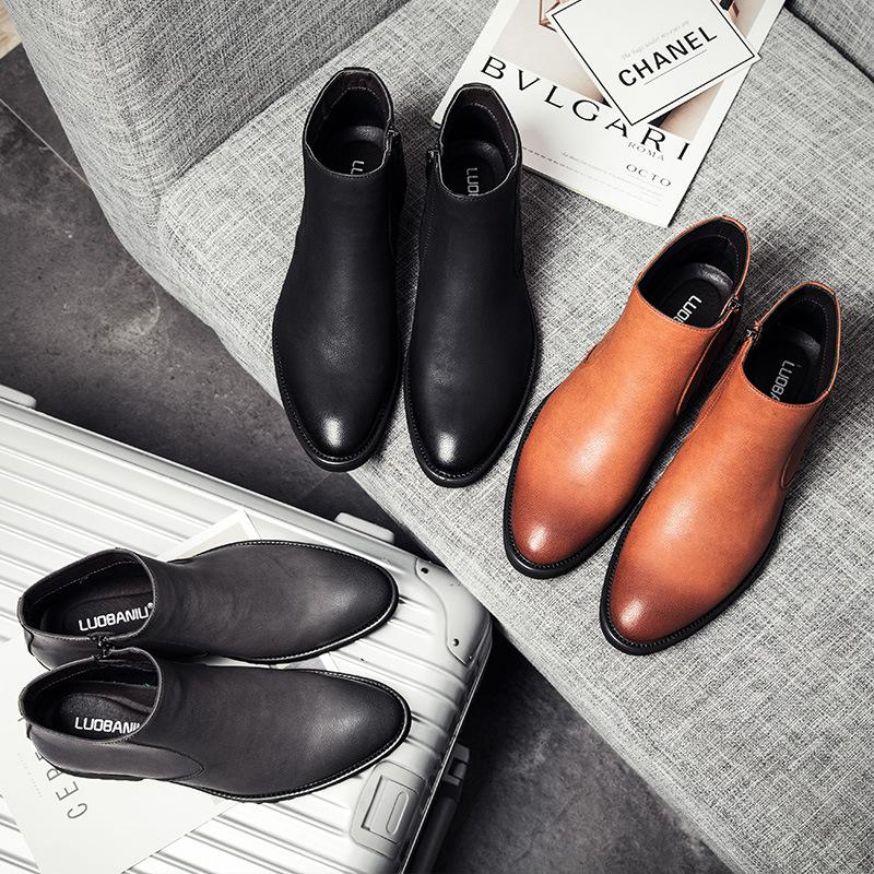 B013 Best Selling 2018 New Fashion Mens Casual Martin Boots Lower Leather  Shoes Brand Designer Factory Wholesales Cheap Shoes`hot Shoe Sale Pumps  Shoes From ... add8c0ac076
