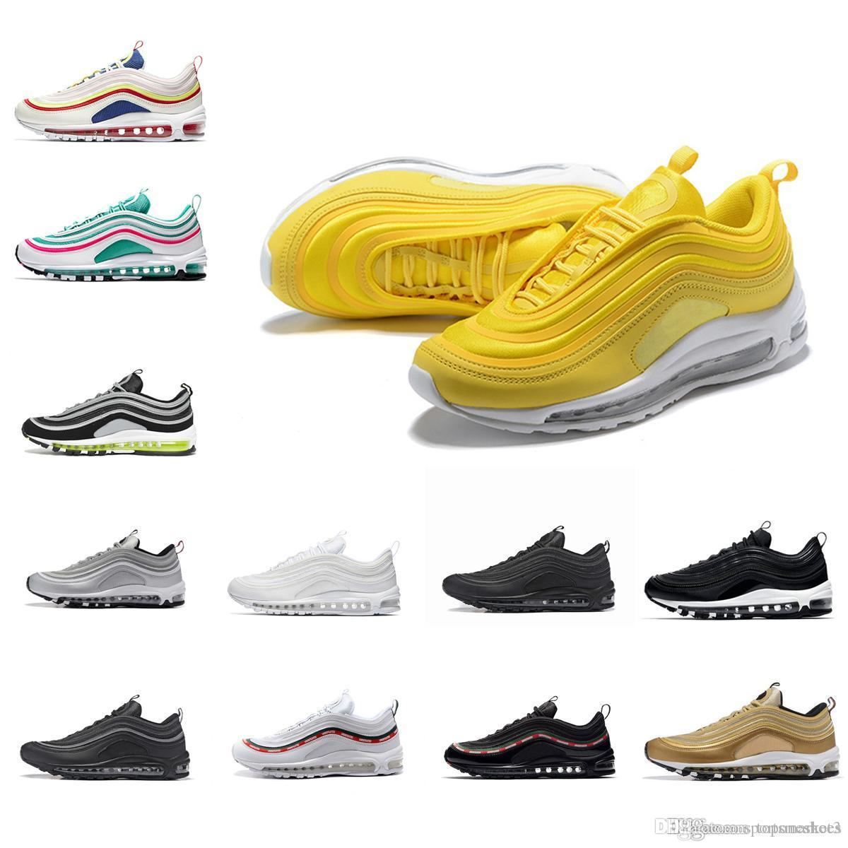 9a6d296cff4 2018 South Beach Gym Red Yellow 97 Casual Shoes Undftd Triple White ...