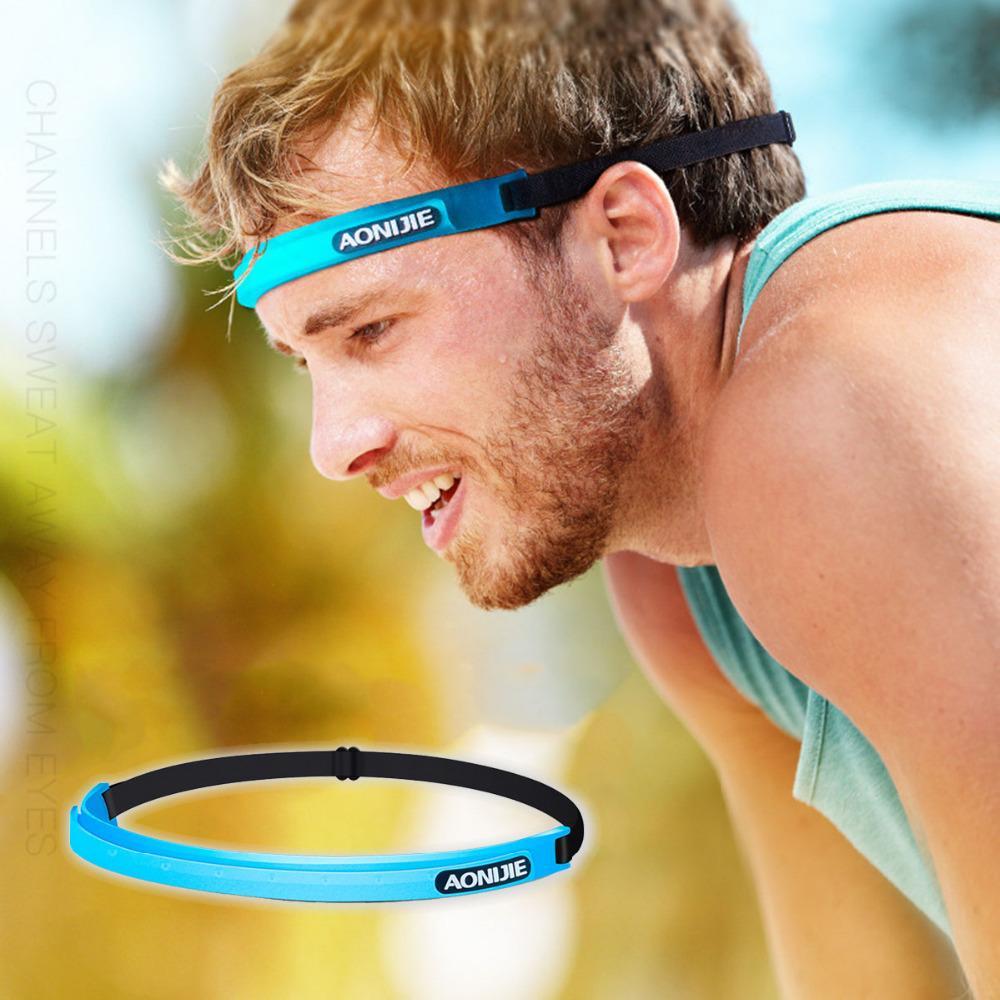 8ed0b14743b8 Unisex Outdoor Sports Hair Bands Headband Anti-slip Elastic ...