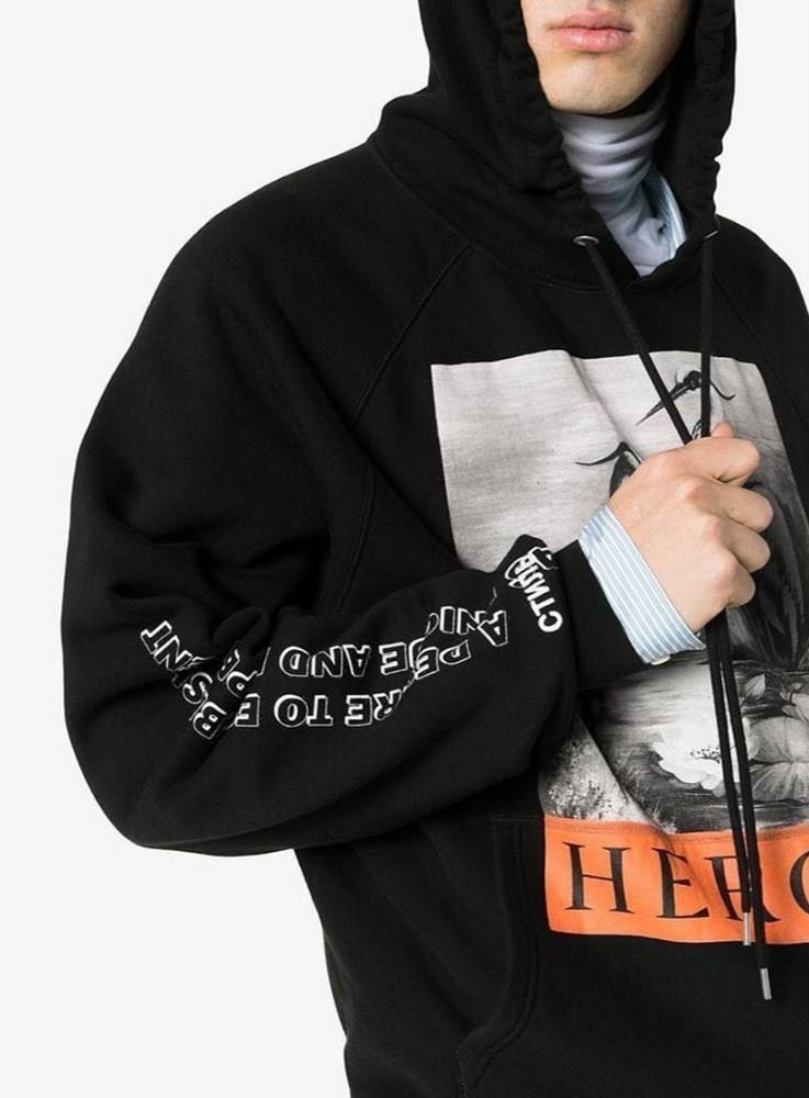 a6e7d0ff656 2019 Heron Preston 18FW HP Black And White Crane Hoodie Men Women High  Quality Black Hooded Sweater HFBYWY183 From Fear store
