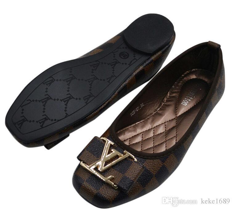 c99676e52 Compre LOUIS VUITTON Mujer Hombre Zapatos Mujer Mocasines Nuevo Piso Con  Parte Inferior Suave Zapatos Casuales Mujer Damas A $22.34 Del Yyzz188 |  DHgate.Com