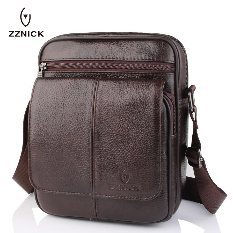 826ecfbf0c2 ZZNICK 2017 New Men S Small Shoulder Bag Genuine Cowhide Leather Messenger  Bags For Men Casual Small Crossbody Bag Travel Bags Handbags For Sale  Fashion ...