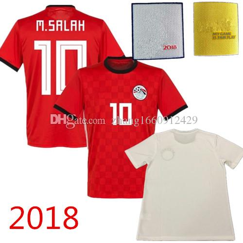 e566bf45f33 2019 2018 World Cup M. SALAH Egypt Soccer Jersey 2019 National Team Home Red  Away White KAHRABA RAMADAN M.ELNENY Egyptian Football Shirt From ...