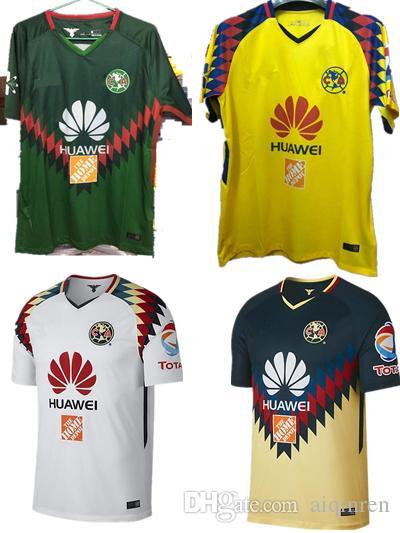 2017 2018 Liga MX Mexico Club Verde America 3ra Camiseta 18 19 Camiseta  Club America Soccer JUEGO DE CAMISETA Futbol Football Quintero DOMINGUEZ  PERALTA Por ... b5f75e5af6818