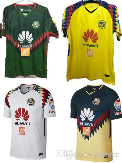 2019 2017 2018 Liga MX Mexico Green Club America 3rd Jersey 18 19 Club  America Soccer Jersey DOMINGUEZ PERALTA Quintero Football Shirt Kit From  Aiqinren 018d3338a