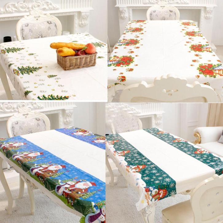 6styles 110*180cm Disposable Merry Christmas Rectangular Tablecloth Printed  Pvc Cartoon Dining Table Covers Home Christmas Decor Ffa818 Spring  Tablecloths ...