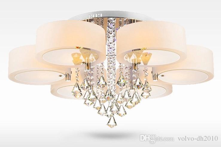 Plafoniere Led A Soffitto Moderno Dimmerabile : Acquista moderno lustre cristallo dimmerabile led lampadari