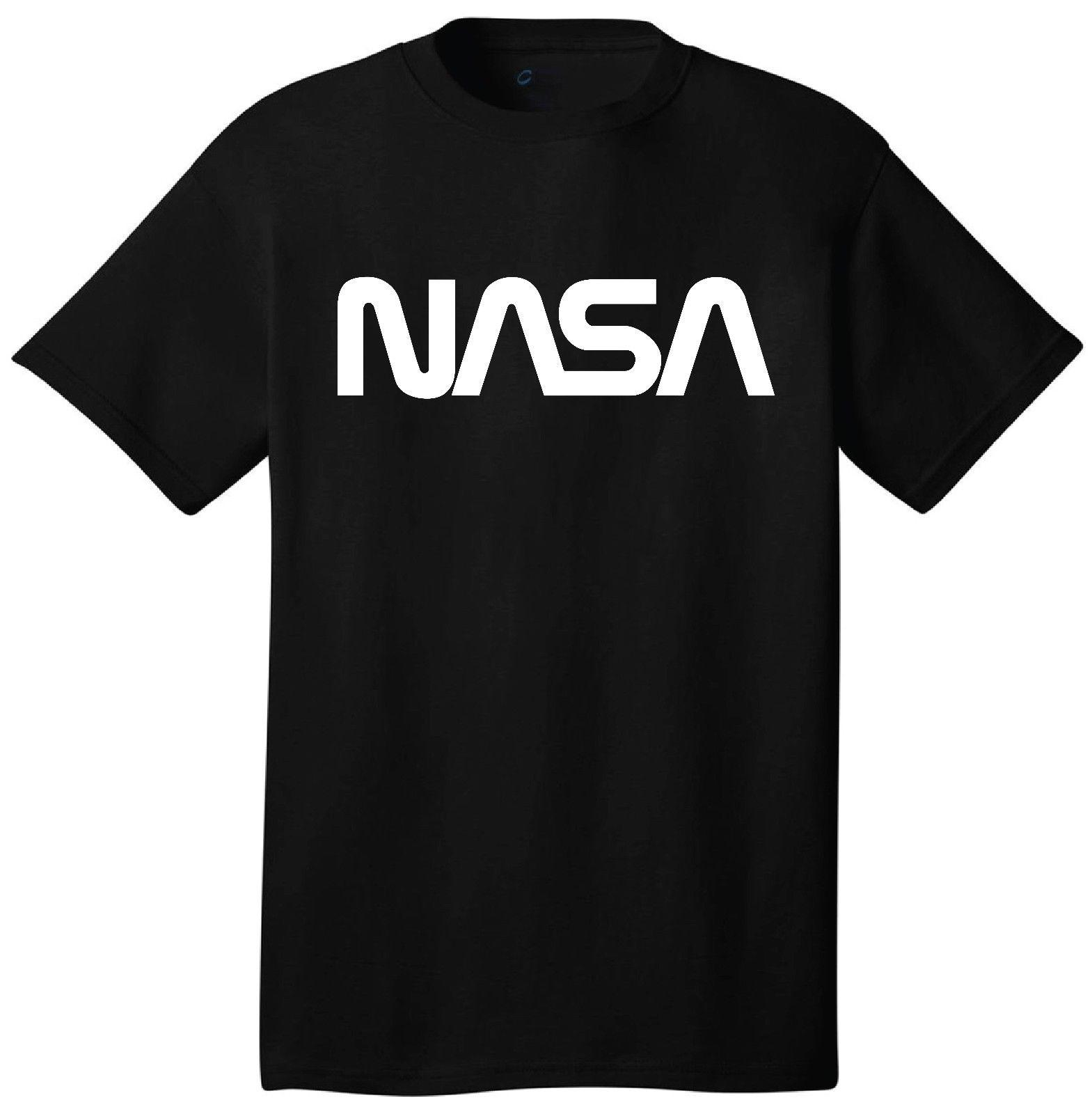Nasa Logo T-Shirt Short Sleeve Outer Space Astronaut Retro 60's 70's 80's  Style Funny free shipping Unisex tee