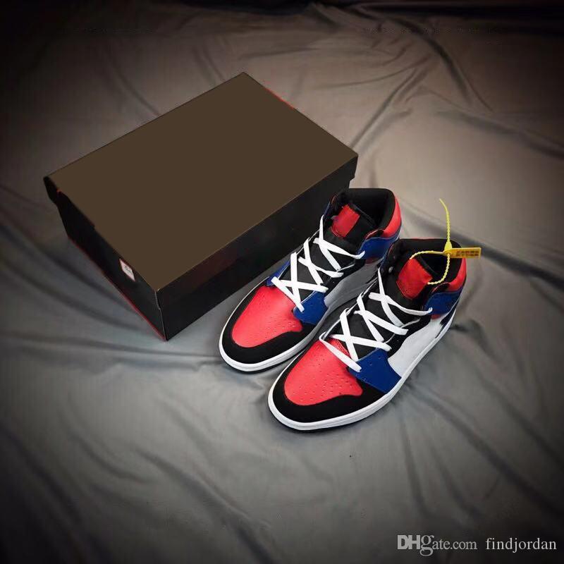 best loved 954fa 0263e Marca 1 High Mid Top 3 Zapatos De Baloncesto Para Hombre Mujer Nuevo 1 OG  Azul Blanco Rojo Negro Hombres Zapatillas Deportivas Con Caja Por  Findjordan, ...