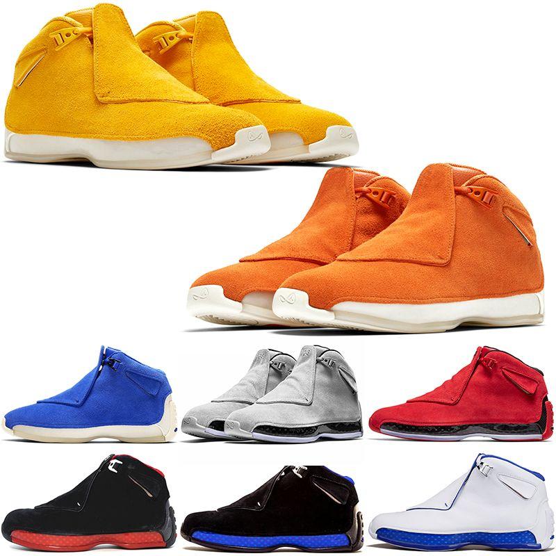cb4de82ebb7f Cheap Men 18 18s Toro Basketball Sport Shoes Red Suede Yellow Orange ...