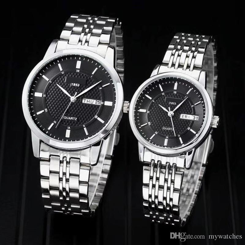 ce3613e65 Couple Men Women Fashion Lovers Watches Luxury Brand Watch Stainless ...