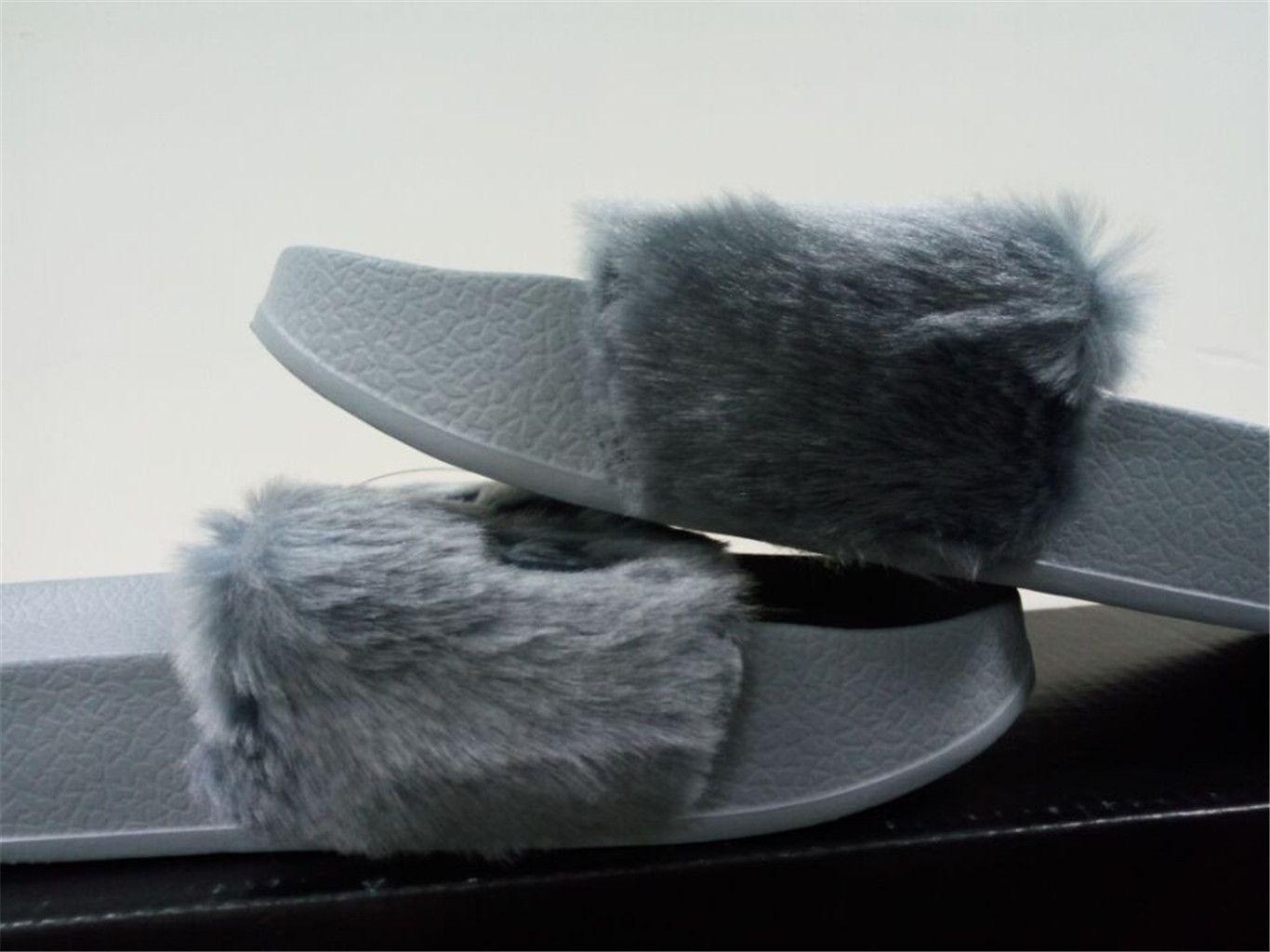 862532b94321 2018 Rihanna Fur Leadcat Fenty Slides Women Men Slippers House ...