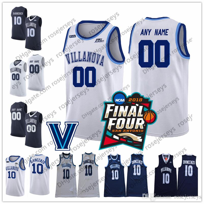 54980f91a 2019 Villanova Wildcats  21 Dhamir Cosby Roundtree 22 Peyton Heck 23  Jermaine Samuels 34 Tim Delaney White Navy Blue 2018 NCAA Jersey From  Rosejerseys