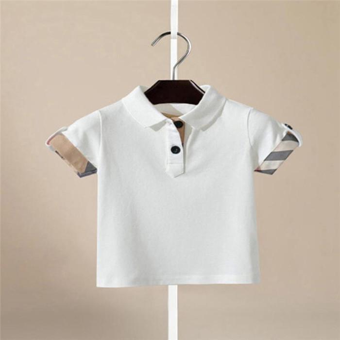 47f9ee95cf58 Turn Down Collar Clothing Boys T-Shirt Tops Breathable Summer Shirts ...