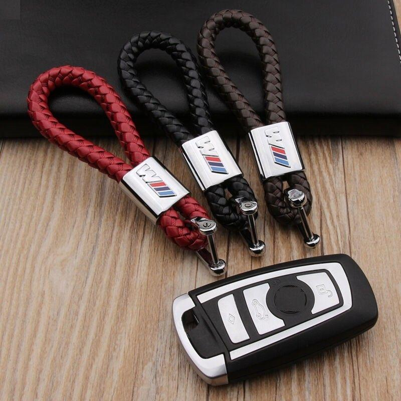 Metal Leather Key Chain Key Ring For BMW M M3 M5 X1 X3 X5 E46 E39 E60 2018  New 3 Styles Hot Sale Lovely Ideal Gift