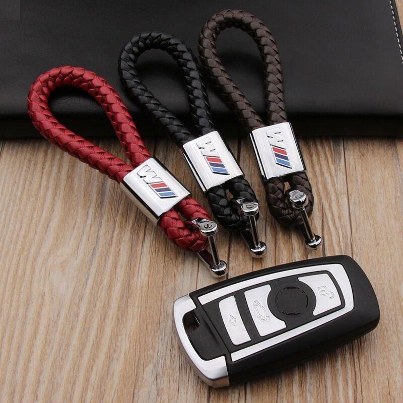Metal Leather Key Chain Key Ring For Bmw M M3 M5 X1 X3 X5 E46 E39