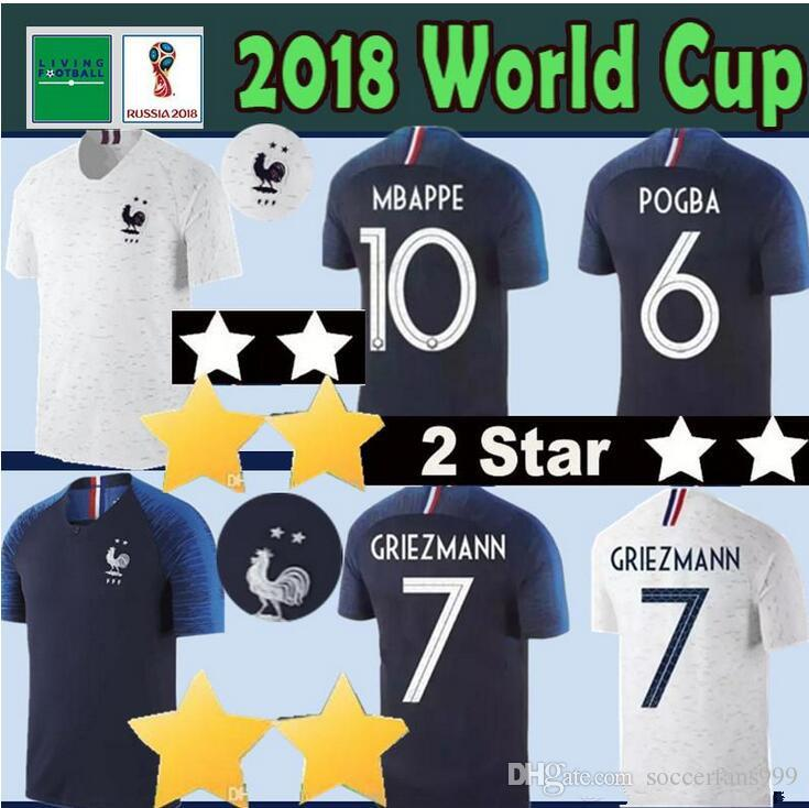 2019 2 Stars MBAPPE GRIEZMANN POGBA Soccer Jerseys 2018 World Cup Soccer  Jersey DEMBELE MARTIAL KANTE Football GIROUD Maillot De Foot From  Soccerfans999 673c06fc4