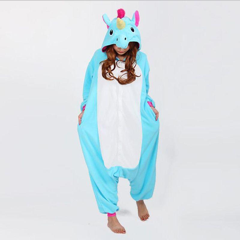 22 Styles Animal Stitch Unicorn Panda Bear Koala Pikachu Onesie Adult Unisex Cosplay Costume Pajamas Sleepwear For Men Women