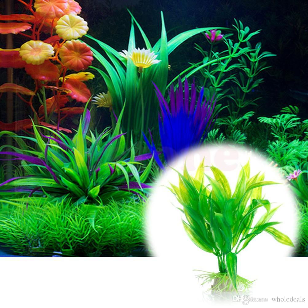 High Quality Submarine Artificial Green Plant Grass for Fish Tank Aquarium Weeds Decorations Underwater Plant Supplies