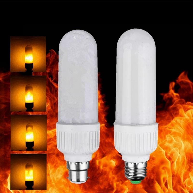 New Year Decor 2835 Smd Led Lamp Bulb E27 B22 5w Flame Fire Flickering Effect Light Chandelier Lighting Ac110v 220v Bulbs Review
