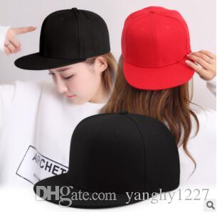 New Hotselling Plain Flat Hats Caps Fashion Blank Solid Flat Hip Hop ... 747a1a0dc524