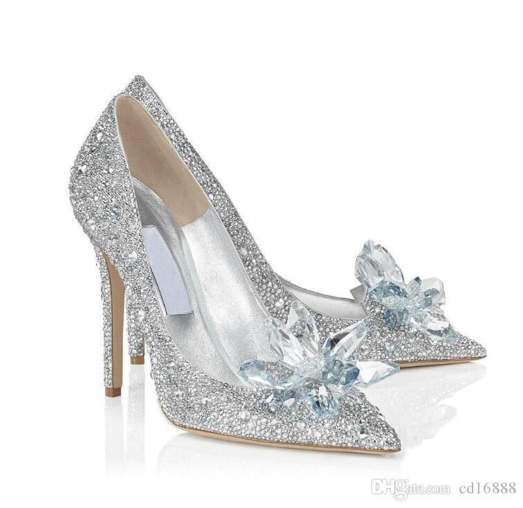 73602daeb07 Hot Selling New 2019 Star With The Tip Pointed Diamond High Heels Crystal  Shoes Thin With Sexy Shoes Bridesmaid Wedding Shoes Woman Pumps Tennis  Shoes ...