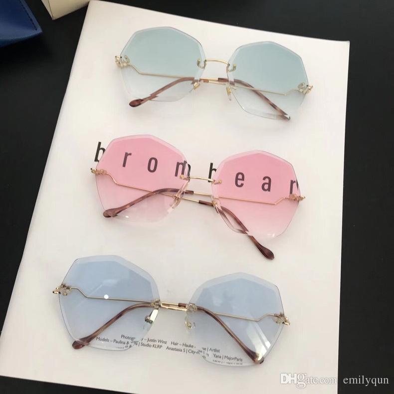 8e8c4d2f9e New Sunglasses For Women Big Frame Sun Glasses Blue Lens Sunglasses Fashion Women  Rimless Sunglasses Metal Frame Glasses With Case Sunglasses Online ...