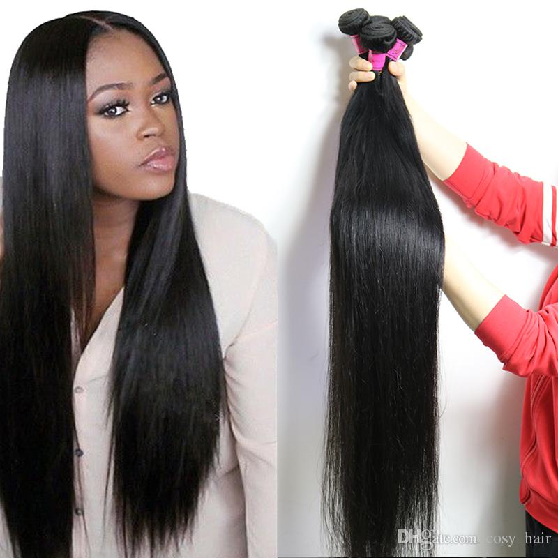 Unprocessed Straight 40 Inch Hair Extensions Brazilian Virgin Hair Weave  Bundles 36 Inch Length 28 30 32 34 Remy Human Hair Vendors Wefts Deep Wave  Human ... 914bcc1102