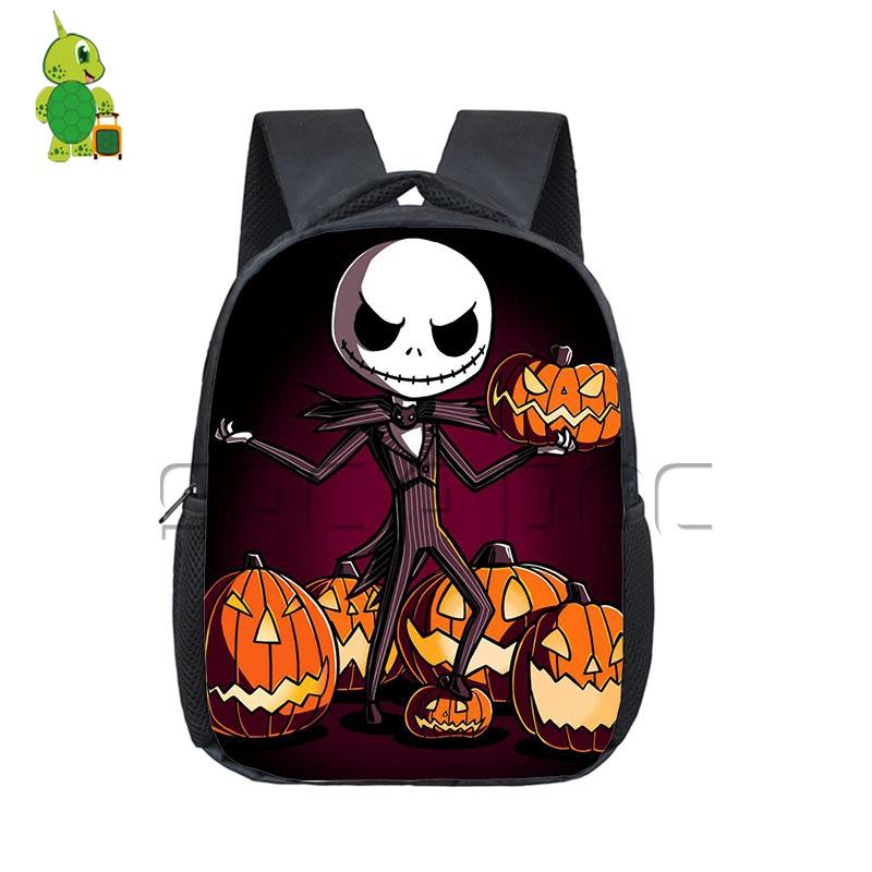 Anime The Nightmare Before Christmas Backpack Pumpkin King Jack Book ...