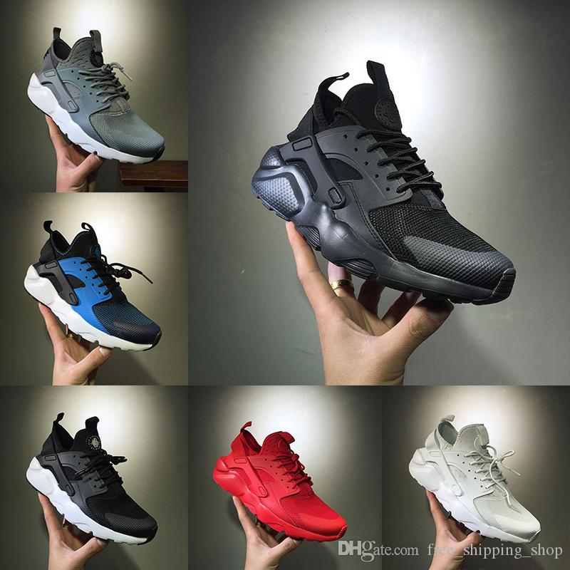 e974a44a1f68d 2018 Air Huarache Run Triple White Black Oreo Red Grey Men Women Huarache  Shoe Huaraches Ultra Sport Sneaker Running Shoes Size 36 45 Best Running  Shoes For ...