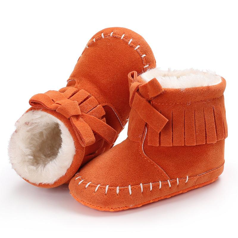 0081987eb63 Raise Young Winter Plus Velvet Warm Baby Shoes Fringe Soft Soles Plush  Toddler Girl Snow Boots Newborn Infant Boy Booties 0 18M Kids Rubber Boots  Girls ...