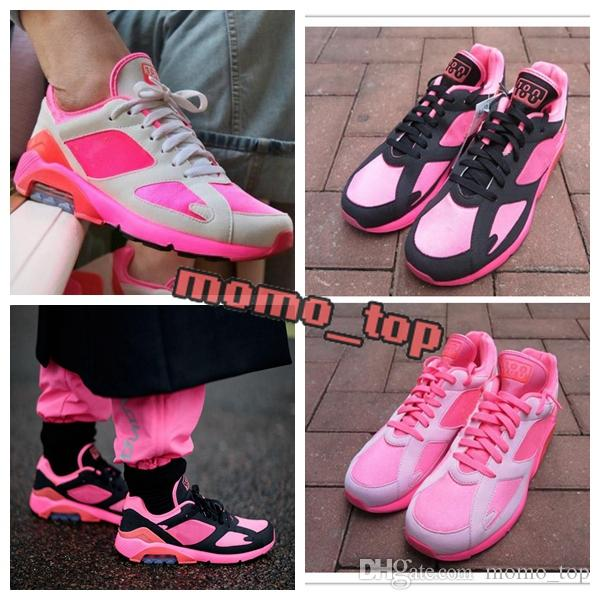 2018 New Arrival 180 Air LACER Casual Running Shoes for Good quality PINK Fuchsia Men Women Training Sneakers Jogging Size 36-45 order 2014 new 2014 newest sale online QHoDFRcyvU