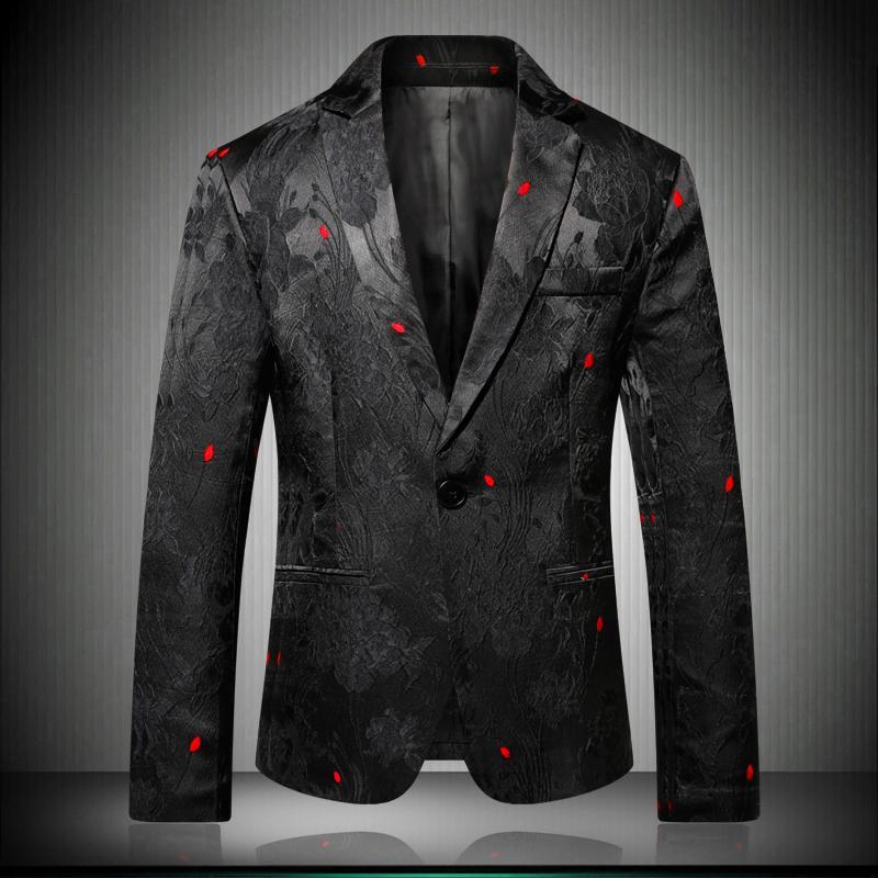 Großhandel Floral Stilvolle Blazer Für Männer Slim Fit 2018 Schwarz Herren  Blazer Muster Gedruckt Blaser Homens Herren Persönlichkeit Anzug Jacke 6601  Von ... d106f9b1ac