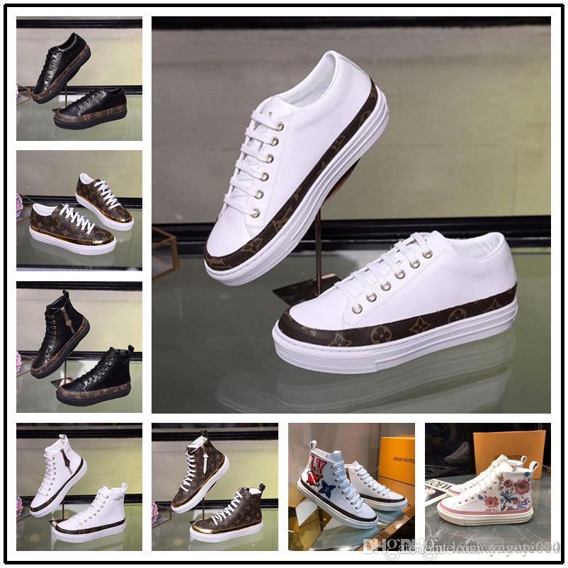 542eebd103 Compre Zapatos De Cuero Caliente Hecho A Mano De Lujo Marca Tenis Feminino  Sapato Mujeres Zapatos Casuales Basket Femme Superstar Shoes A  81.12 Del  ...